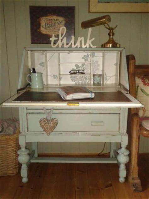 Vintage Art Deco Shabby Chic Painted Bureau Writing Shabby Chic Computer Desks