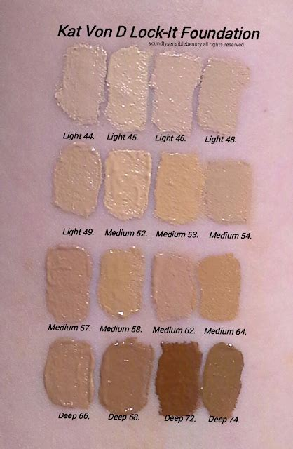 d foundation light 42 d lock it foundation review swatches