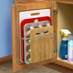cabinet door organizers kitchen bakeware organizer in cabinet door organizers