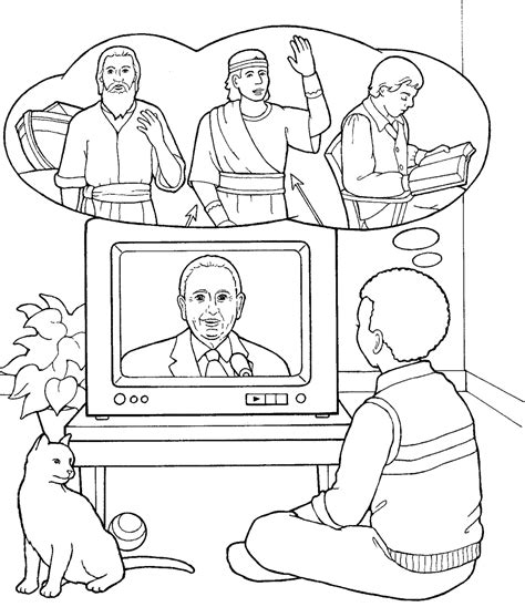 free coloring pages of president monson
