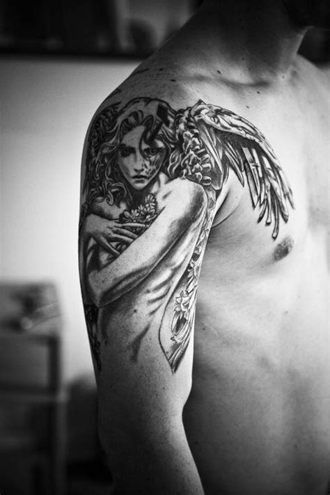 angel tattoo in arm 90 powerful angel tattoos