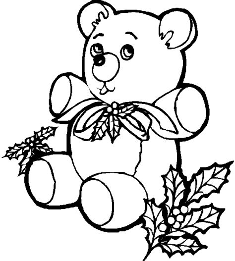 coloring page christmas bear coloring pages 2