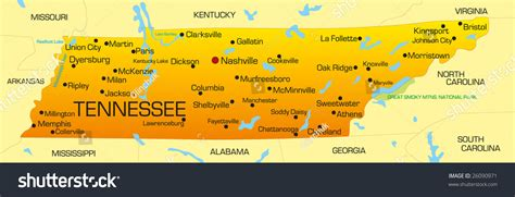 map usa tennessee a map of tennessee laminatoff