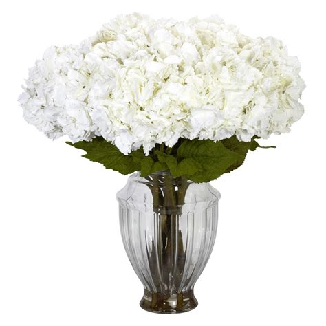 Large Artificial Flower Arrangements Vases by Large White Hydrangea Centerpiece Silk Flower Arrangements