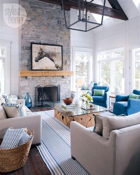 cottage decorating house tour modern nautical style cottage lovely living