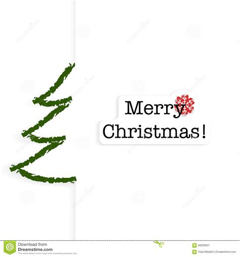card with christmas tree and text stock vector image