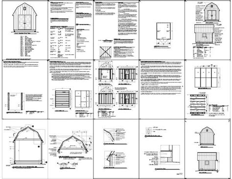 16x16 Shed Plans Free by Gambrel Shed Plans 16 215 16 Pdf Free Wood Storage Shed Plans