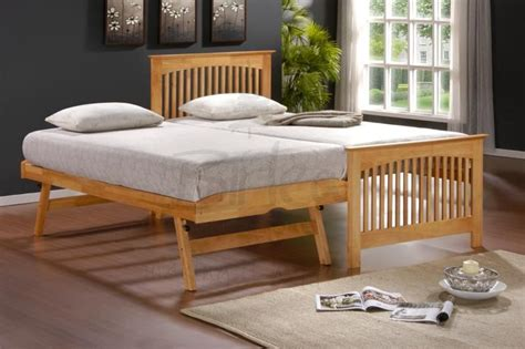 Extended Mattress by Toronto 3ft Single Rubberwood Bed With Pull Out Guest Bed