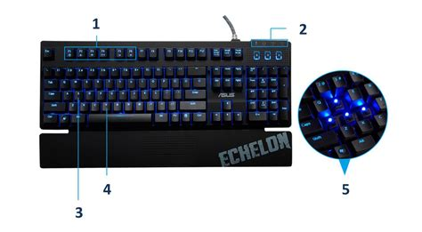Asus Mechanical Keyboard Asus Echelon Mechanical Gaming Keyboard Co Uk Computers Accessories