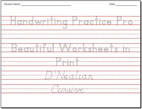 Create Cursive Worksheets by Make Beautiful Handwriting Practice Worksheets