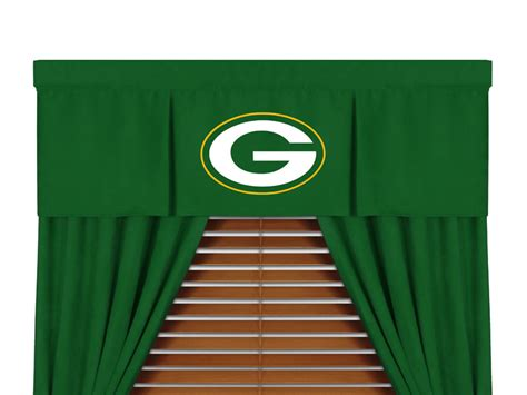 packers curtains green bay packers window curtains nfl green bay packers