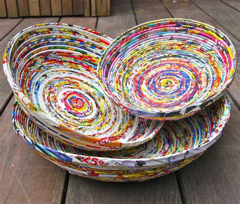 How To Make Paper Bowls From Magazines - 10 ways to re use waste paper