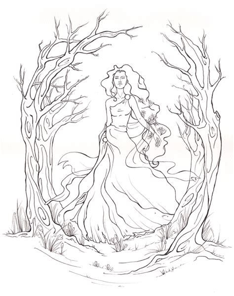 how to draw persephone