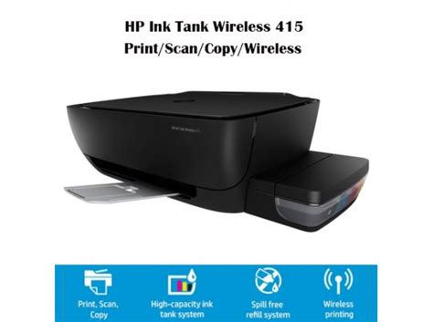 Hp Ink Tank Wireless 415 Z4b53a hp deskjet 415 all in one ink tank printer