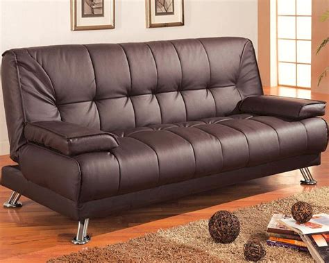 Coaster Sofa Sleeper Coaster Furniture Sofa Bed With Removable Armrests In Brown Co300148