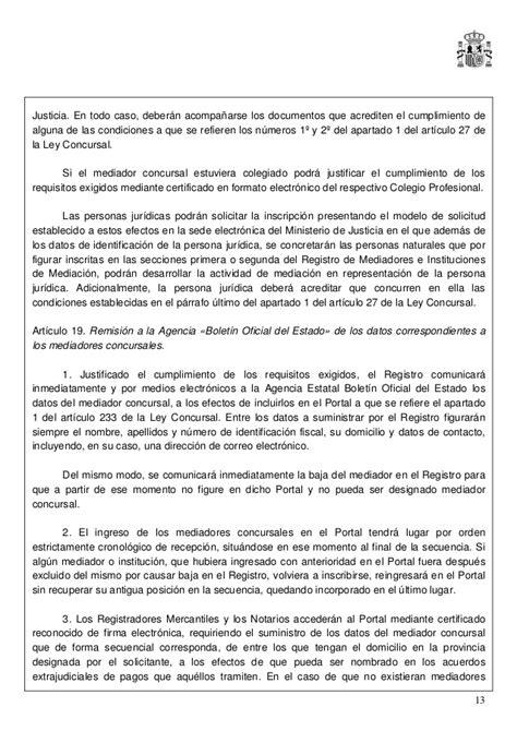 modelo acta notarial de nombramiento de mediador concursal ley 5 2012 de 6 de julio de mediaci 211 n en asuntos civiles