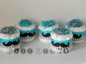 mustache baby shower decorations choose your color set of 4 mustache mini cakes