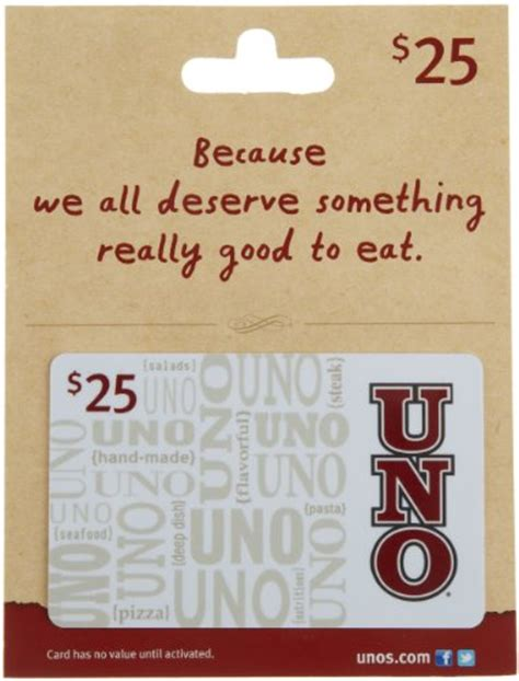 Unos Gift Card - uno s gift card 25 food beverages tobacco food items prepared foods prepared