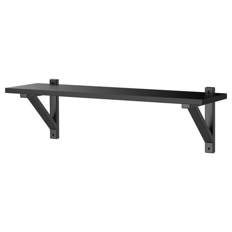 ekby hemnes ekby valter wall shelf black brown black