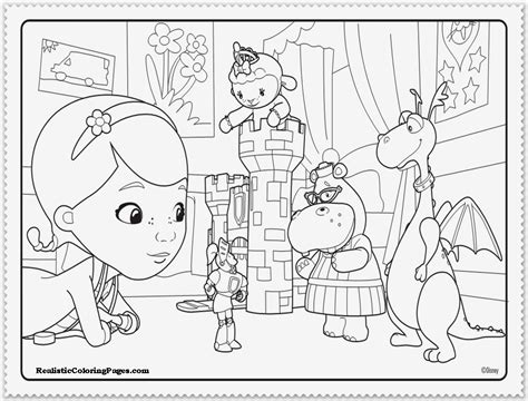 Doc Mcstuffins Coloring Pages Disney Junior by Doc Mcstuffins Coloring Pages Printable Realistic