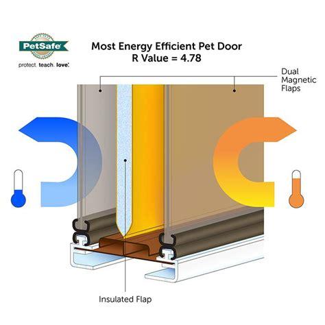 Single Glass Patio Door Amazon Com Petsafe Extreme Weather Energy Efficient Pet