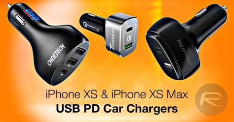 iphone x xs max usb c pd car charger for fast charging here are the best ones list