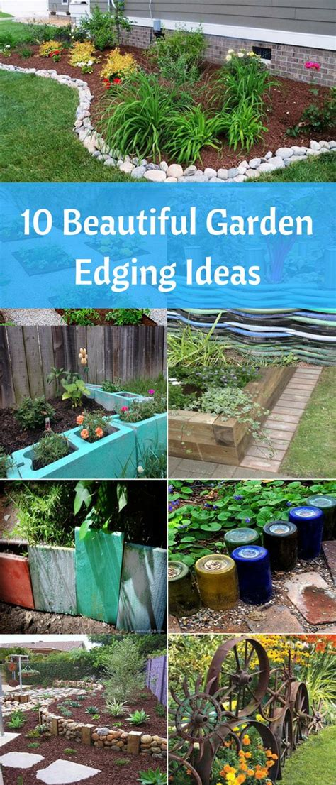 Recycled Garden Edging Ideas 25 B 228 Sta Garden Borders Id 233 Erna P 229 Pinterest Rabatter Framsidor Och Tr 228 Dg 229 Rdsdesign