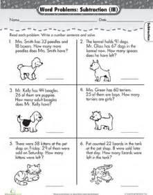 word problems subtraction worksheet education com
