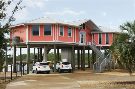 hurricane proof home on pilings stilt house home front