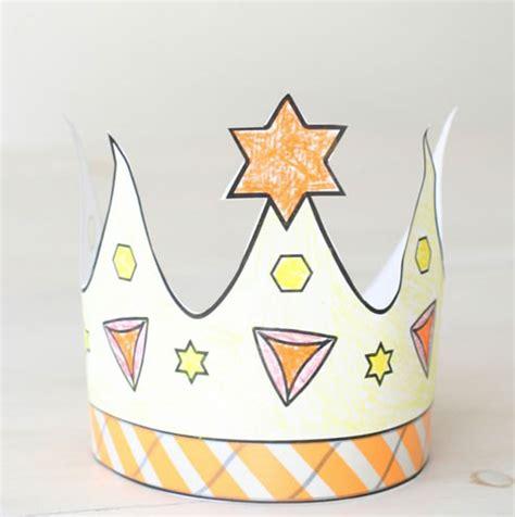 printable queen esther crown printable purim crown coloring crafts jewish kids