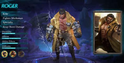 wallpaper mobile legends roger roger skill 100 damage hero baru mobile legends up station