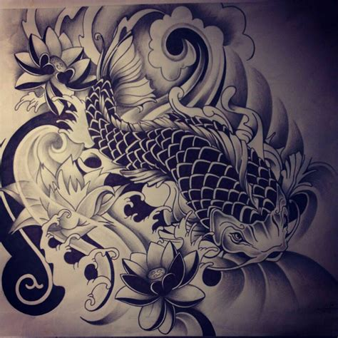 japanese koi fish tattoo drawing tattoobite com