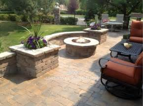 Fire Pit On Pavers - paver patio amp fire pit in greenwood village co modern landscape denver by elite