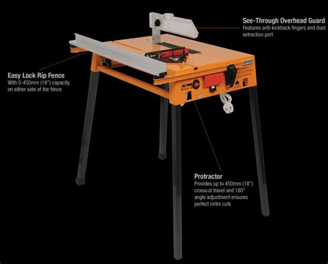 triton saw bench triton circular saw powered table rip work bench pta001 ebay