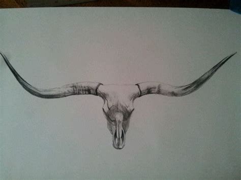 longhorn skull tattoo designs 25 best longhorn ideas on