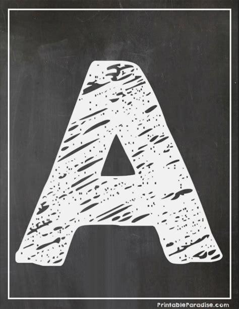 Printable Chalkboard Letters | printable letter a chalkboard writing print chalky letter a