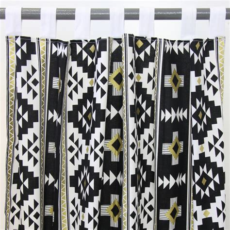 black gold curtains black gold aztec curtain panels set of 2