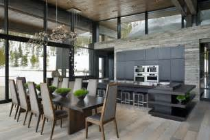 High Ceiling Kitchen Design Mountain Mimic The Interior Of This Beautiful House Mimics The Mountain View
