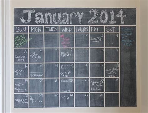 Chalkboard Wall Calendars 1000 Ideas About Chalkboard Wall Calendars On