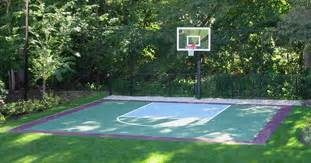 Backyard Court Surfaces Indoor Outdoor Basketball Courts Commercial Backyard