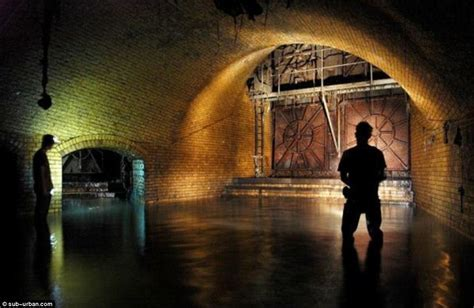 thames river underground tunnel mile after mile of ornate brickwork and labyrinthine