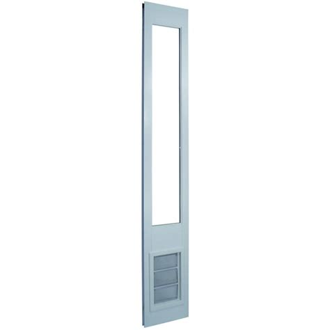 Pet Door For Patio And Sliding Doors Shop Vinyl Pet Patio Medium White Vinyl Sliding Door Pet Door Actual 11 25 In X 6 625 In At