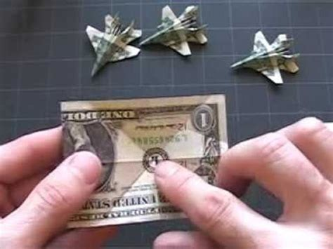 Origami Out Of A Dollar - how to fold an origami f 18 fighter jet out of a dollar