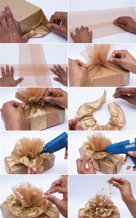 how to wrap presents diy christmas gift wrap ideas handmade bows gift bags