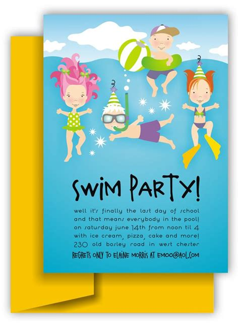 swimming invitations templates free 44 best images about pool ideas and graphics on