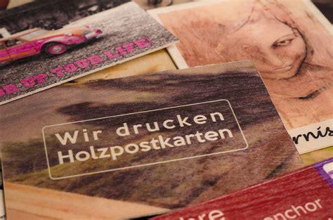 Individuelle Postkarten Drucken by Druck Auf Holz Individuelle Postkarten Aus Holz