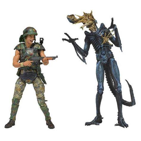 Neca Pacific Danger Anchore Attack Last aliens hicks vs battle damaged blue warrior figures neca aliens