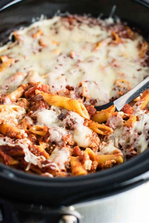 Crock Pot Baked Ziti Recipe Video Build Your Bite - crock pot baked ziti recipe video build your bite