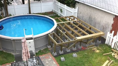 Backyard Pool And Deck Youtube How To Build A Backyard Pool