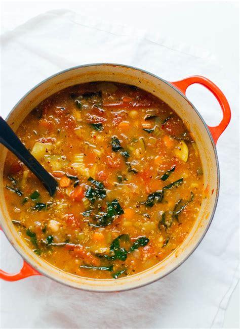 vegetables quinoa quinoa vegetable soup recipe cookie and kate